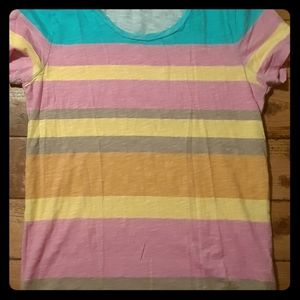 J Crew Factory Colorblock Tee Size Small